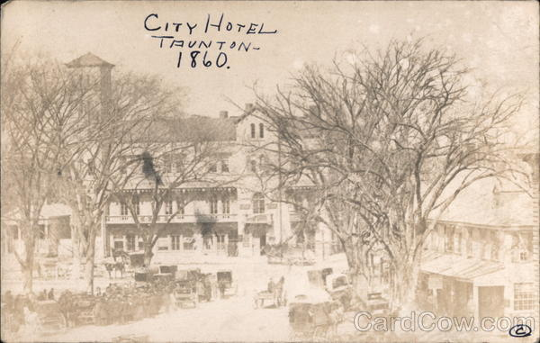 City Hotel, 1860 Taunton Massachusetts