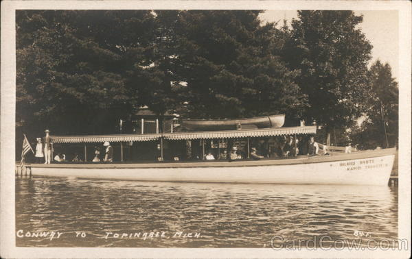 Inland Route Rapid Transit Boat Topinabee Michigan