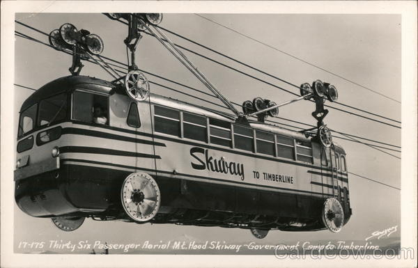 17-175 Thirty Six Passenger Aerial Mt. Hood Skiway - Government Camp to Timberline