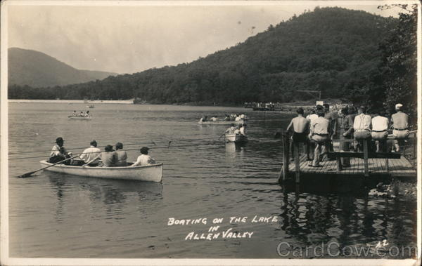 Boating on the Lake, Allen Valley Landscapes