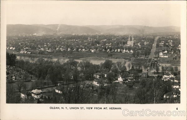 Union St., View from Mt. Herman Olean New York