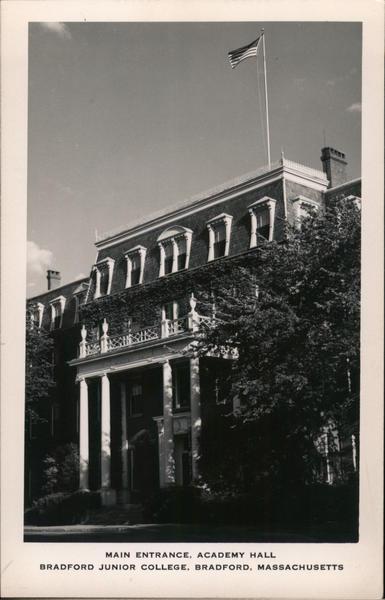 Main Entrance, Academy Hall, Bradford Junior College Massachusetts