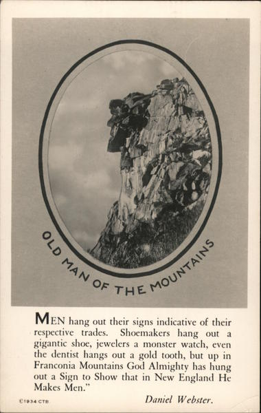 Old Man of the Mountains Franconia New Hampshire C. T. Bodwell