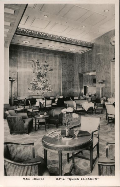 RMS Queen Elizabeth Main Lounge Boats, Ships