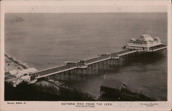 Victoria Pier From the Lees Folkestone Kent England