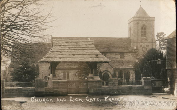 Church and Lich Gate Framfield England Sussex