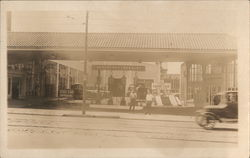 Gas Station, Hupmobile Dealership Showroom
