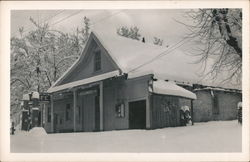 Trinity Center Post Office, Gas Station in Snow