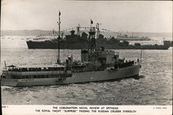 The Coronation Naval Review at Spithead Postcard