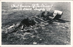 A Desert Tragedy - Skeleton and Buggy