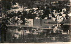 Flooded Town, 1936 Postcard