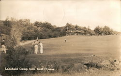 Lakefield Camp from Golf Course Postcard