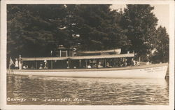 Inland Route Rapid Transit Boat Postcard