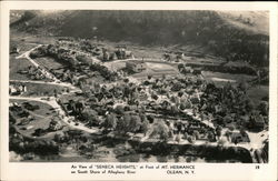 Air View of Seneca Heights at Foot of Mt. Hermance on South Shore of Allegheny River