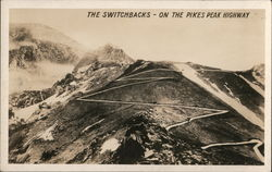 The Switchbacks on the Pikes Peak Highway