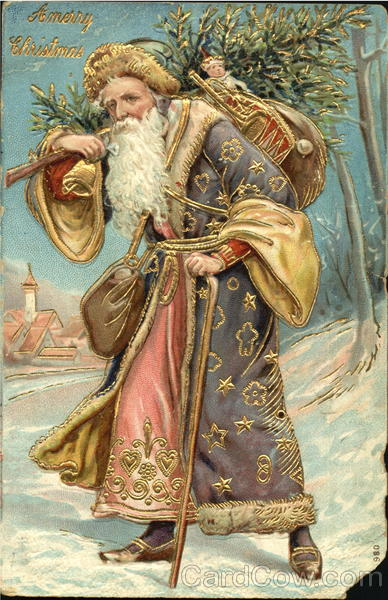 German Santa with Purple Robe Santa Claus