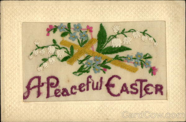 A Peaceful Easter Embroidered Silk