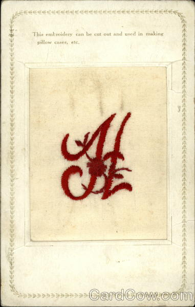 Emboridery - Letter H Embroidered Silk