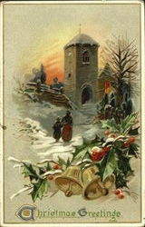 Christmas Greetings Postcard