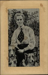 Edith Cavell WWI Nurse with Dogs