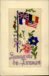 WWI Allied Flags Souvenuir de France