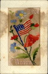 WWI US Flag, Flowers