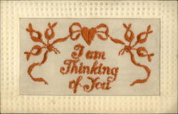 I am Thinking of You Embroidered Silk