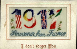 1917 WWI Silk Postcard
