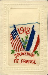 1918 US & French Flags