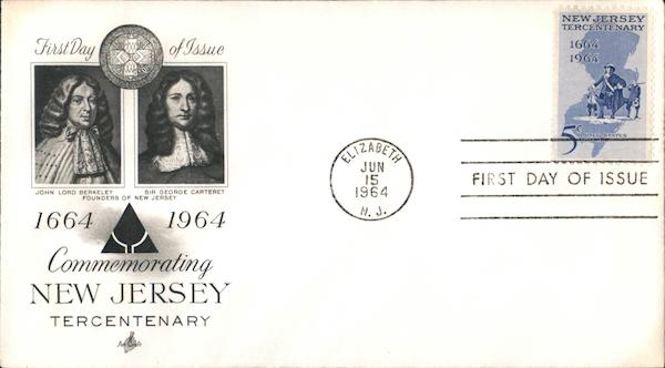1664-1964 Commemorating New Jersey Tercentenary First Day Covers