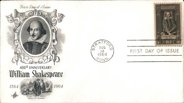 400th Anniversary William Shakespeare First Day Covers