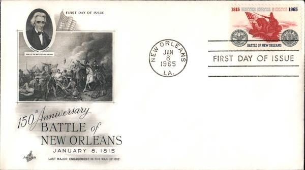 150th Anniversary Battle of New Orleans First Day Covers