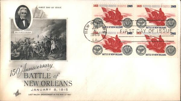 150th Anniversary Battle of New Orleans Block of Stamps