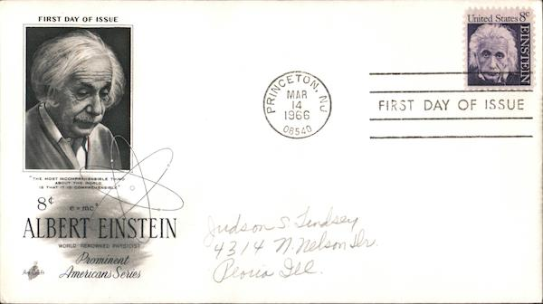 8¢ Albert Einstein Prominent Americans Series First Day Covers