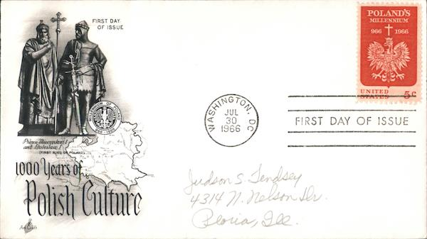 1000 Years of Polish Culture First Day Covers