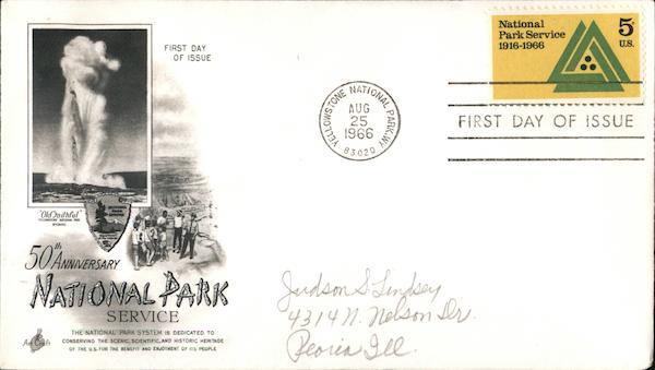 50th Anniversary National Park Service First Day Covers