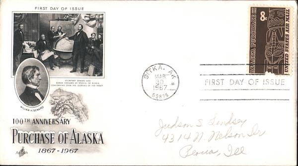 100th Anniversary Purchase of Alaska 1867-1967 First Day Covers