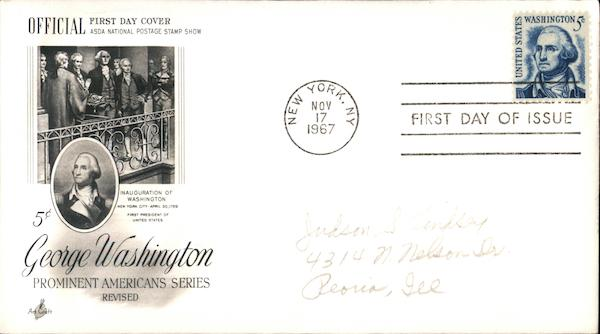 Prominent American Series First Day Covers