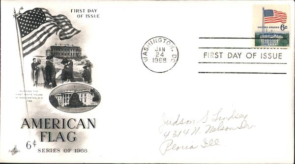 6c American Flag Series of 1968 First Day Covers