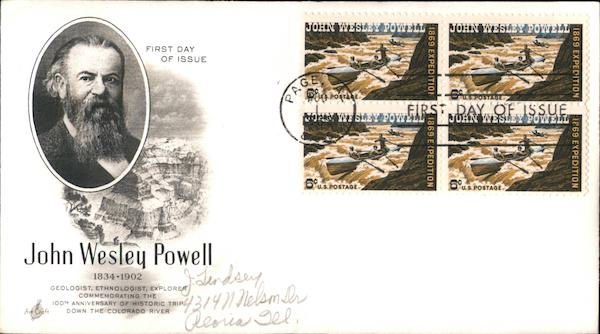 John Wesley Powell First Day Covers