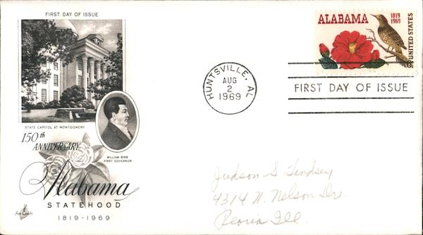 150th Anniversary Alabama Statehood 1819-1969 First Day Covers