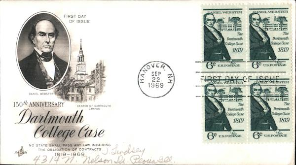 150th Anniversary of Dartmouth College Case Block of Stamps