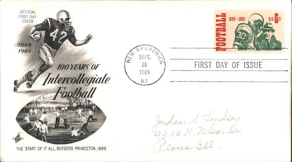 100 Years of Intercollegiate Football First Day Covers