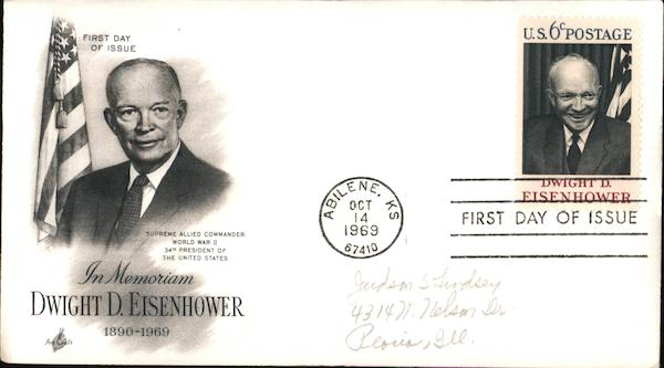 In Memorium, Dwight D. Eisenhower, 1896-1969 First Day Covers