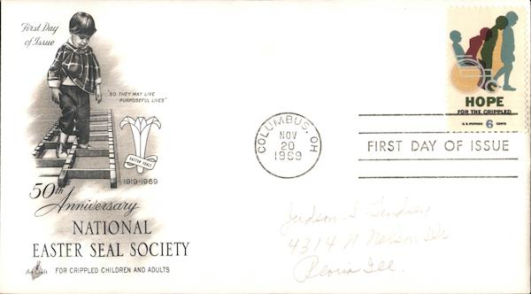 50th Anniversary National Easter Seal Society First Day Covers