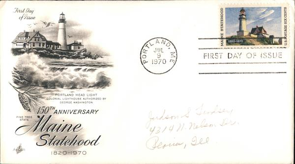 150th Anniversary Maine Statehood 1820-1970 First Day Covers