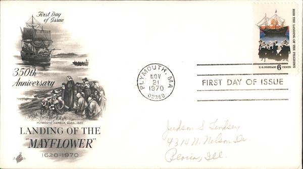 350th Anniversary Landing of the Mayflower First Day Covers