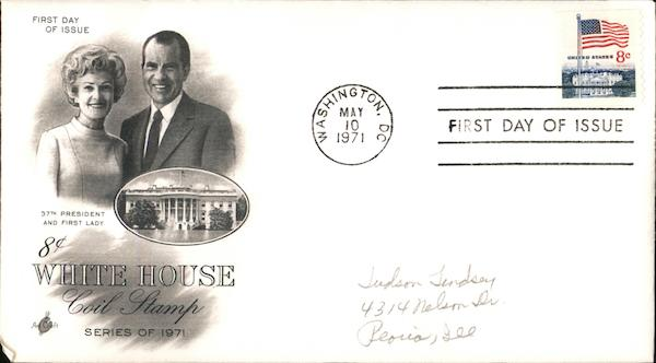 8¢ White House Coil Stamp Series of 1971 - 37th President and First Lady