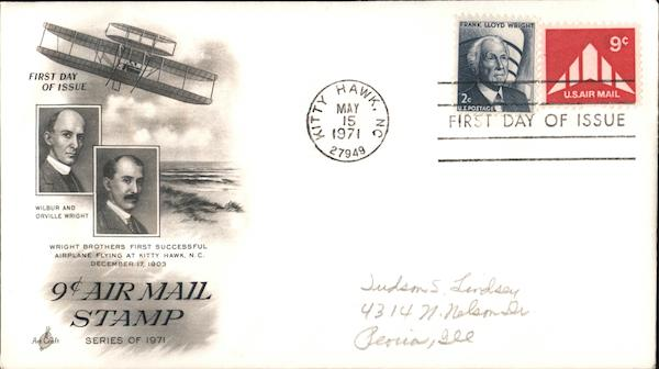 9¢ Air Mail Stamp Series of 1971 First Day Covers