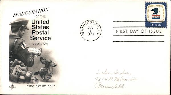 Inauguration of the United States Postal Service - July 1, 1971